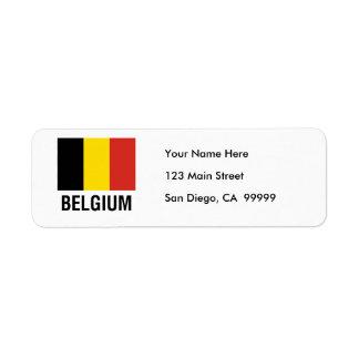 FLAG  of BELGIUM Label
