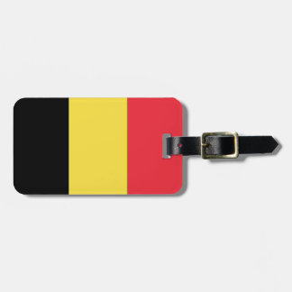 Flag of Belgium Luggage Tag w/ leather strap