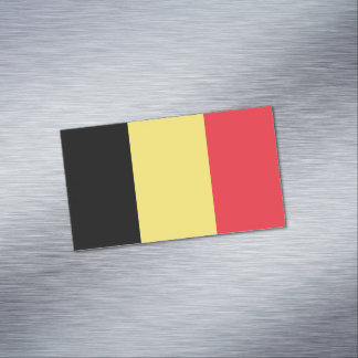 Flag of Belgium Magnetic Business Cards