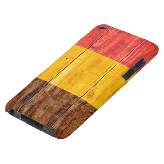 Flag of Belgium on Wood Barely There iPod Cover