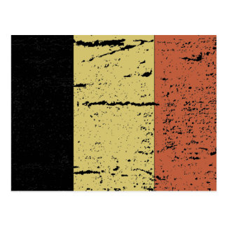 FLAG OF BELGIUM POSTCARD