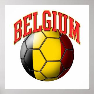 Flag of Belgium Soccer Ball Poster