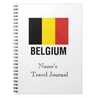 FLAG  of BELGIUM Spiral Notebook