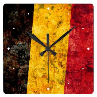 Flag of Belgium Square Wall Clock