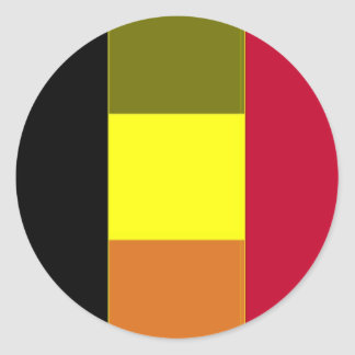 Flag Of Belgium Striped Sticker