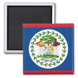 Flag of Belize 2 Inch Square Magnet