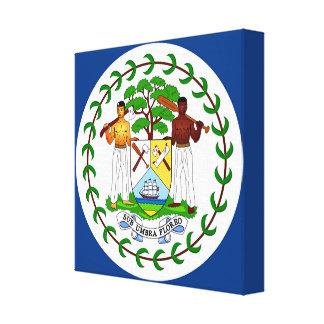 Flag of Belize Canvas Print