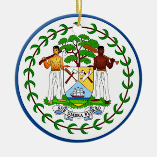 Flag of Belize Ceramic Ornament