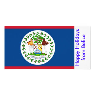 Flag of Belize, Happy Holidays from Belize Card
