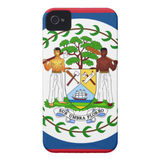 Flag of Belize iPhone 4 Case-Mate Case