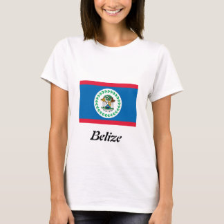 Flag of Belize Ladies fitted T-Shirt