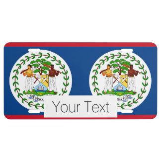 Flag of Belize License Plate