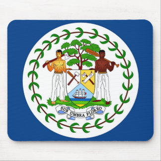 Flag of Belize Mouse Pad