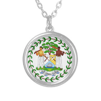 Flag of Belize Personalized Necklace