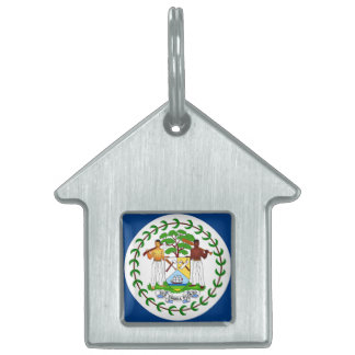 Flag of Belize Pet ID Tag