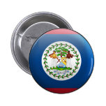 Flag of Belize Pinback Buttons