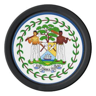 Flag of Belize Poker Chip Set