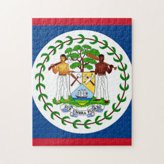 Flag of Belize Jigsaw Puzzles