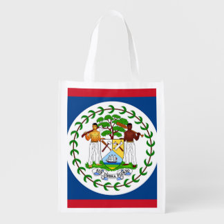 Flag of Belize Reusable Grocery Bag