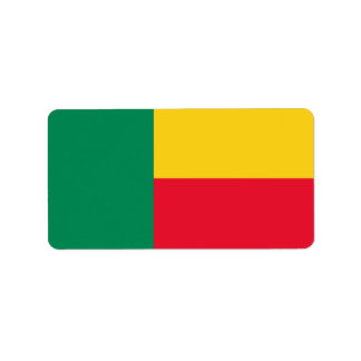 Flag of Benin Labels