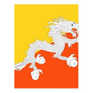 Flag of Bhutan - ཧྥ་རན་ས་ཀྱི་དར་ཆ - ཧྥ་རན་ས་ཀྱི་དར Postcard