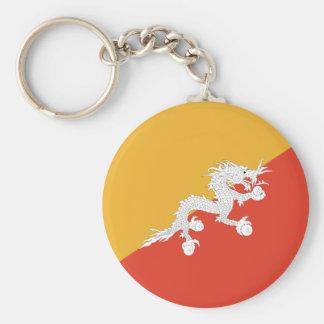 Flag of Bhutan Basic Round Button Keychain