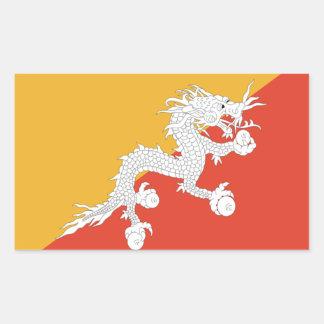 Flag of Bhutan Rectangular Sticker