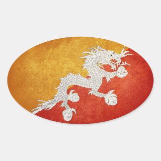 Flag of Bhutan Oval Stickers