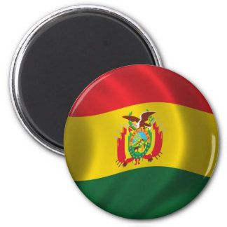 Flag of Bolivia 2 Inch Round Magnet