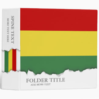 Flag of Bolivia 3 Ring Binder