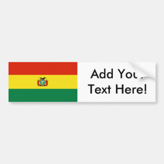 Flag of Bolivia Bumper Sticker