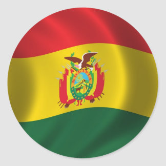 Flag of Bolivia Classic Round Sticker