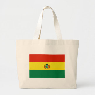 Flag of Bolivia Large Tote Bag