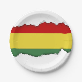 Flag of Bolivia Paper Plate
