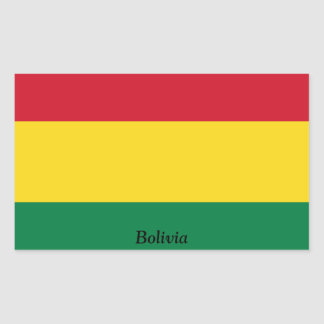 Flag of Bolivia Rectangular Sticker