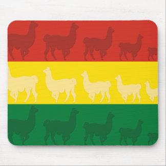 Flag of Bolivia with Llamas Mouse Pad