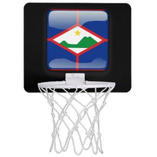 Flag of Bonaire Mini Basketball Backboard