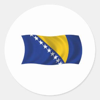 Flag of Bosnia and Herzegovina Classic Round Sticker