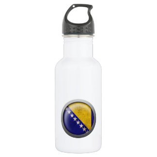 Flag of Bosnia and Herzegovina Disc Water Bottle
