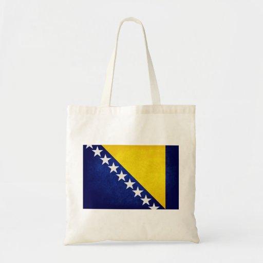Flag of Bosnia Tote Bags