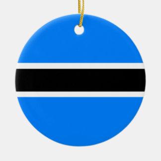 Flag of Botswana Ceramic Ornament