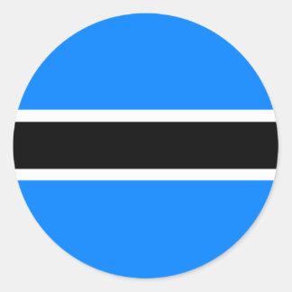 Flag of Botswana Classic Round Sticker