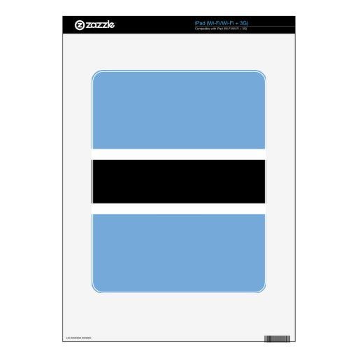 Flag of Botswana Decals For The iPad