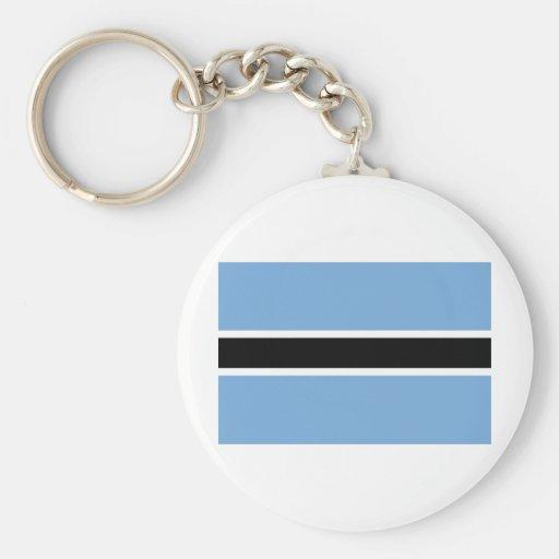 Flag of Botswana Keychains