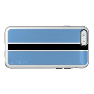 Flag of Botswana Silver iPhone Case