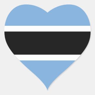 Flag of Botswana Heart Sticker