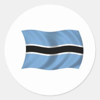 Flag of Botswana Round Stickers