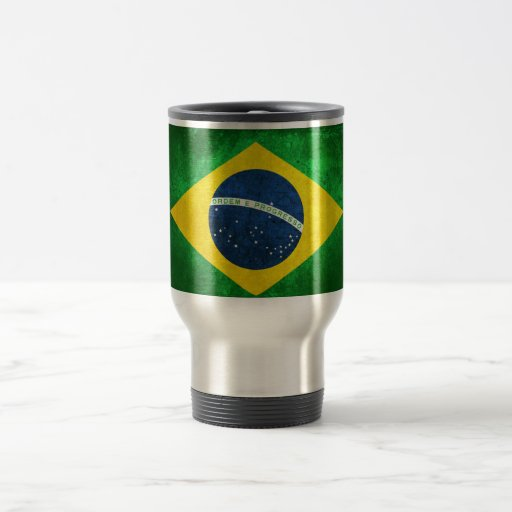 Flag of Brazil 15 Oz Stainless Steel Travel Mug
