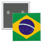 Flag of Brazil 2 Inch Square Button