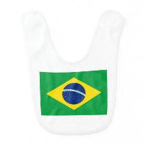 Flag of Brazil - Bandeira do Brasil Baby Bib